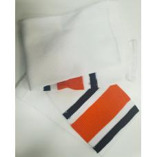 Рейтузы бело-черно-оранжевые