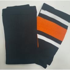 Рейтузы черно-бело-оранжевые